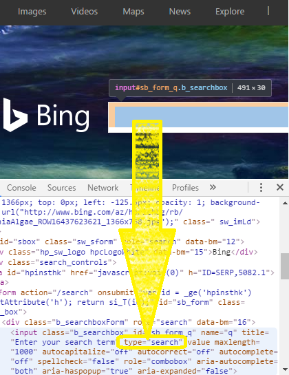 Bing Search Type