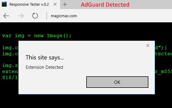Detecting Installed Extensions (Edge) – Broken Browser